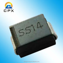 1.0A 40V smd schottky barrier diode ss14 with high quality