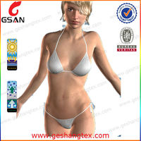 Lady sexy muslim transparent bikini swimwear