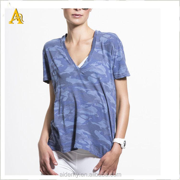Custom Women V Neck Fitted T Shirts Yoga Compression Shirt