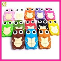 Amazing promotional fashion colorful cute 3d embossed animal silicone phone case for iphone/samsung/ipad/htc/blackberry 2013
