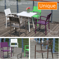2017 Chinese factory Custom high quality Garden Sets alum Outdoor furniture / Alum table and chair