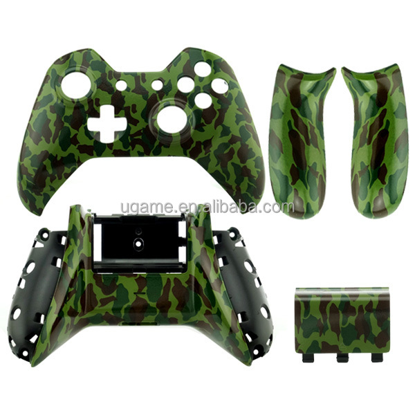 For Xbox One Jungle Camo Custom hydro dipped Shell parts Kit