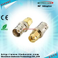 SMA male to BNC female coaxial connector adapter