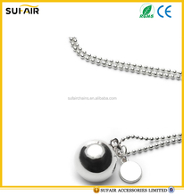 Popular accessories christmas metal ball chain as gift