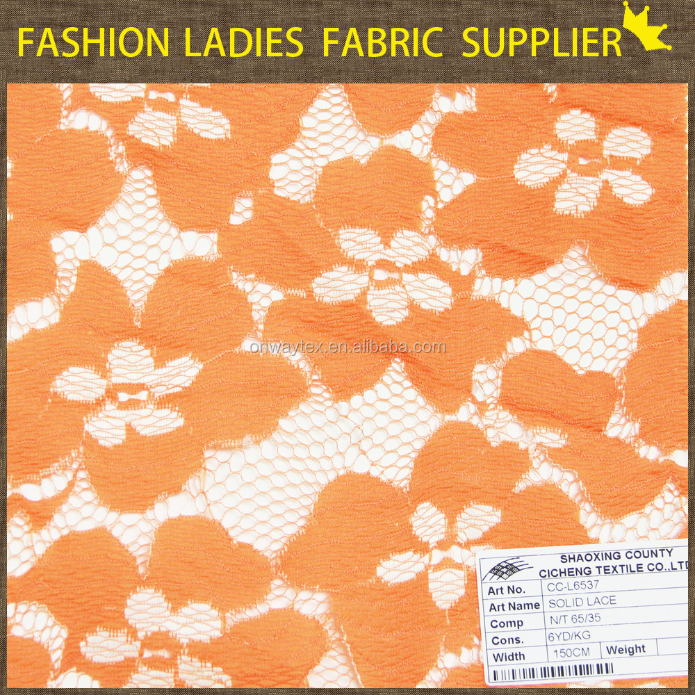 Nylon Polyester Lace Fabric Modern Design Lace Solid