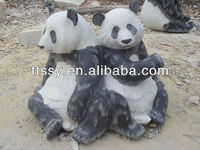 stone panda statue for decoration