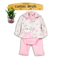 baby fall winter outfits pig heart print kids fashion clothes sets