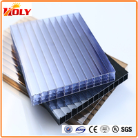 waterproof polycarbonate multiwall solar panel roofing sheets for greenhouse