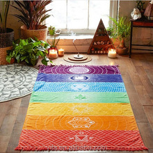 100% Cotton Rainbow Beach Yoga Blanket