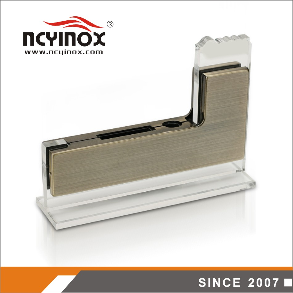 Low Price high quality L Shape glass Door Patch Fitting