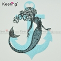 iron on mermaid sequin applique patch for clothes WEFB-291