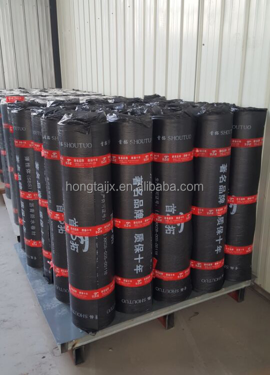 1.5mm-5mm SBS Modified elastomeric bitumen membrane