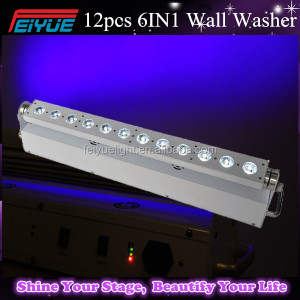 Wireless Battery Powered Led Uplights 12*18W RGBAW+UV 6 in 1 Battery Led Stage Light for Wedding Events