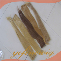 Colored Natural Straight Wholesale Pure Indian Remy Virgin Human Hair Weft