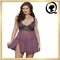 Plus Size Sensual Queen Sexy Babydoll French Flirt Sexy Chemise