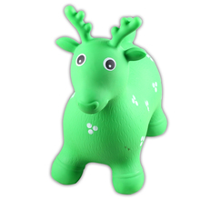 Daycare center children plastic toys inflatable horse riding toys goat shape for sale
