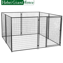 Hebei Giant Factory Cheap Black Color PVC Coated Welded Iron Dog Cage For Sale