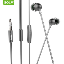 2017 music earphone metal stereoscopic headset in-ear mobile phone accessories wired with microphone Hot selling