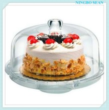 3 in 1 Multi Function acrylic Server Patisserie Footed Cake Dome