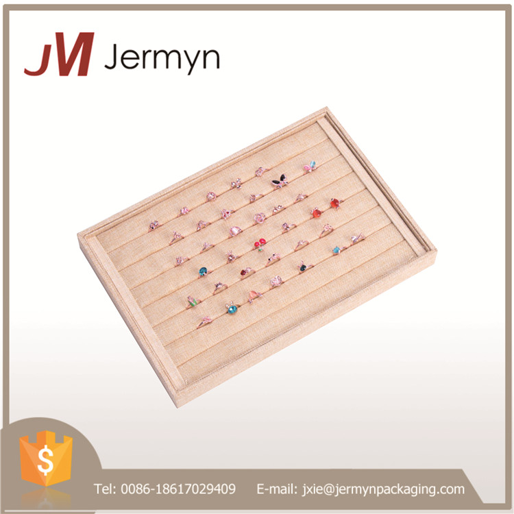 Small quantity customized linen ring display tray with high quality