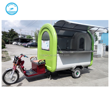 electric food warmer trolley / fast food tricycle made in China