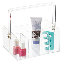 Manufacturer Plexiglass 5-Section Acrylic Tote Display Box with Handle