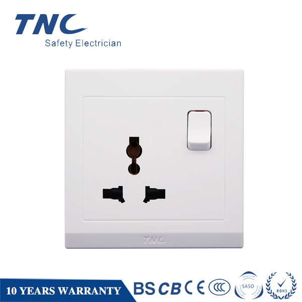 16 Amp Universal Switched Socket 100-250V 3-pin Multifunction Socket Wall 86*86 Switch and Socket