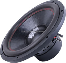 Deep basket dual vocie coil 12 inch car subwoofer speaker