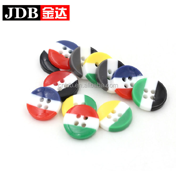 colored fancy polyester resin button for children's clothing