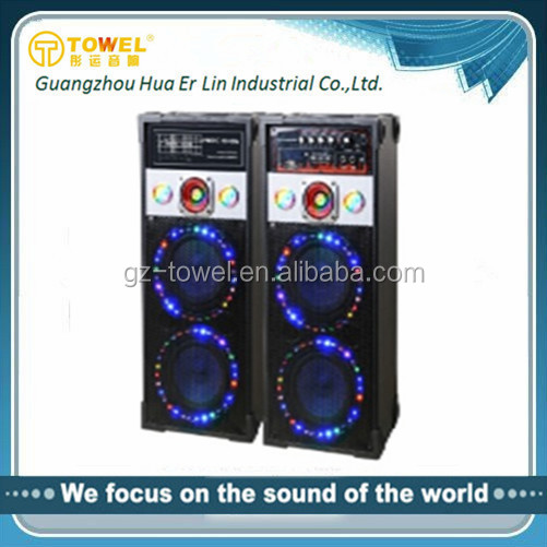 New Design Big Power Cheapest Wooden Professional Stage Speaker With Colorful Light Studio Monitor Speakers