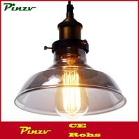Smoke Lampshade Ceiling Vintage Retro Chandelier Pendant Lamp Lights Fixture