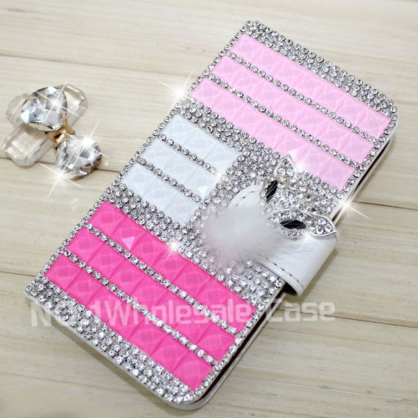 Elegant wallet bling case for HTC One M9 bling cell phone covers for HTC One M9