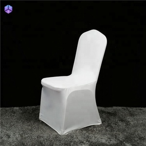 factory direct sale stretch  universal spandex white cover chair wedding