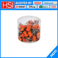 wholesale cheap office and school metal binder clips with orange