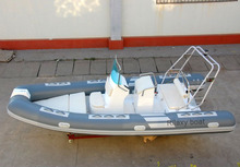 520 duable fiberglass bottom luxury rib boat