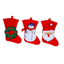 Hot Selling Christmas Gift 2016 Hanging Decoration Non-woven Red Sock