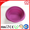 Eco-Friendly,Stocked Feature and FDA,LFGB Certification 6 Inch Silicone Collapsible Strainer / Foldable Silicone Strainer