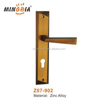 wenzhou factory wholesale zinc door handle on plate for dubai market