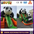 panda amusement park inflatable slide inflatable jumping slide trampoline slide