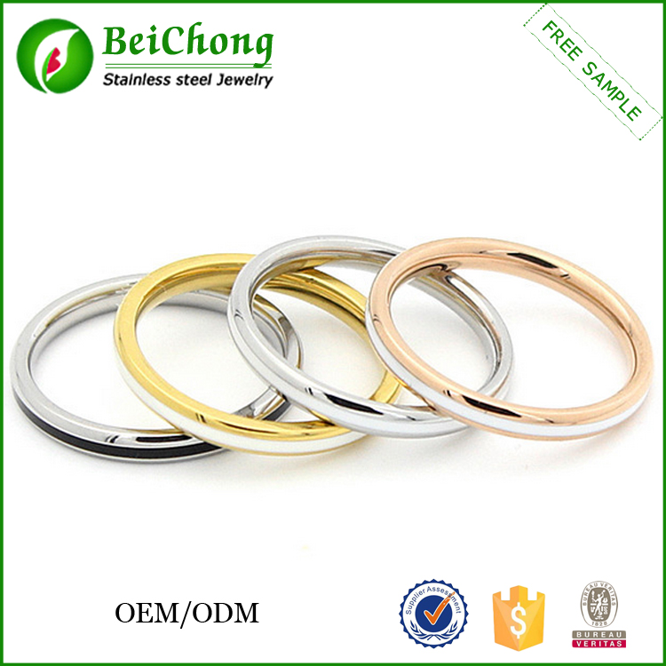 Finger jewelry cheap stainless steel o-ring
