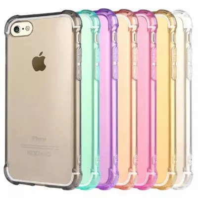 Fashion Slim Transparent Travel Case Anti-slip TPU Cover For iPhone 7/7 Plus