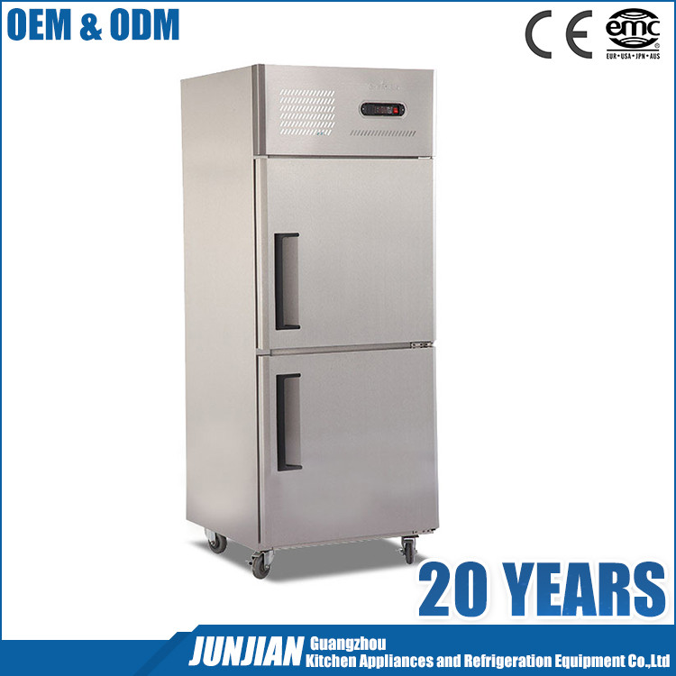 2 Doors Vertical Stainless Steel Commercial Refrigerator Manufacturers Refrigerator With Price Tall Refrigerators