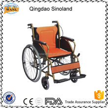 best disabled aluminum manual commode wheelchair with high back