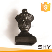 Cast iron decoration item ornamental fence post finial
