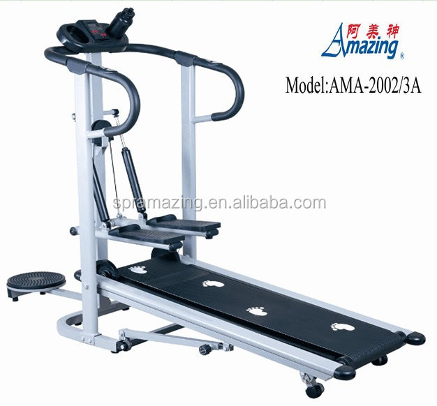 Smart manual control treadmill with twister and stepper and handles sports equipment AMA-2002/3A