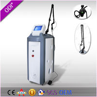 Vertical style acne treatment and face lift feature carbon dioxide laser