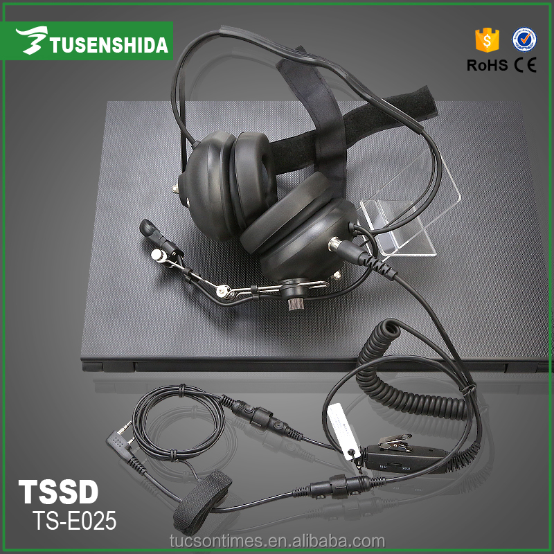Best design headphones for two way radio headset with detachable mic