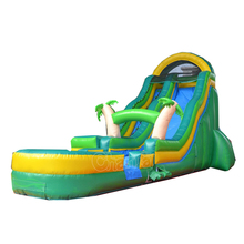 USA palm tree bouncy slide inflatable water slides