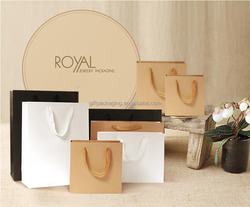 Custom luxury paper bag for packaging with drawstring