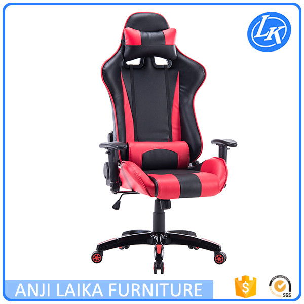 High back adjustable office chair with armrest